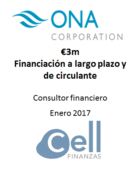 ONA Corporation, Financiación a largo plazo y de circulante.